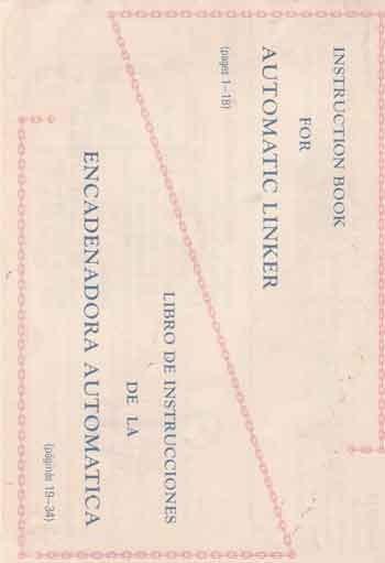 Manual Carro Linker (arrematador) Lanofix Inglês E Espanhol