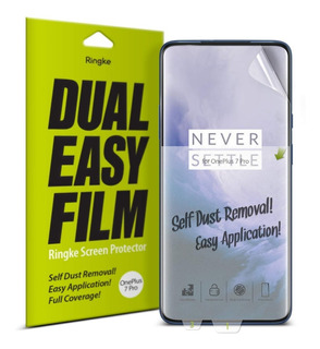 Pack 2x Película Oneplus 7 Pro Ringke Easy Fácil Instalação