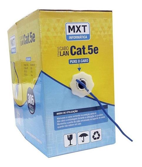 Cabo De Rede Mxt Ic305b 20 Metros Cat.5e 100% Cobre Anatel
