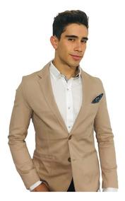 Blazer Saco Para Hombre Color Khaki Marca Peaceful