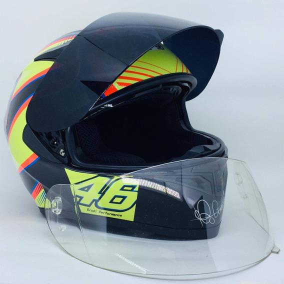 Capacete Valentino Rossi K5 Pista Promoção+viseira Extra