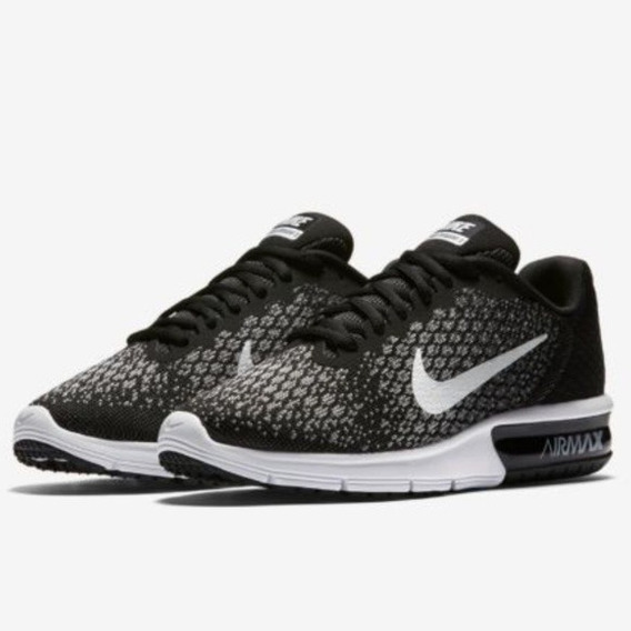 Nike Zapatillas Air Max Sequent 2 852461-005 Negro/gris Dep