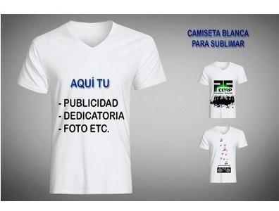 Camiseta De Sublimar, Camiseta Para Sublimación Tipo Algodon