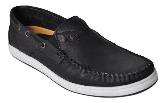 Zapato Mocasín Hombre De Cuero Hopper 1938 Elástico Cómodo