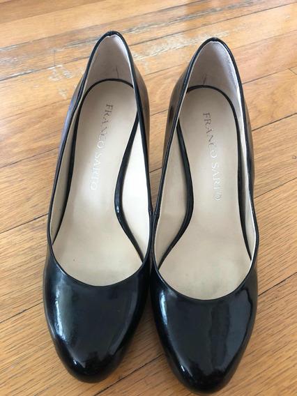 Zapato Stiletto Negro De Charol! Tale 5,5!