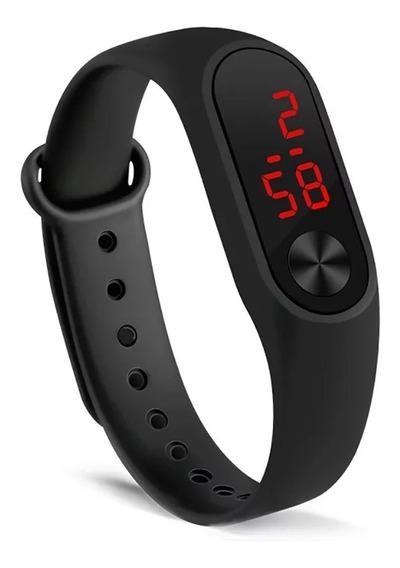 Relógio Digital Esportivo Bracelete Led Unissex Envio 24 Hor