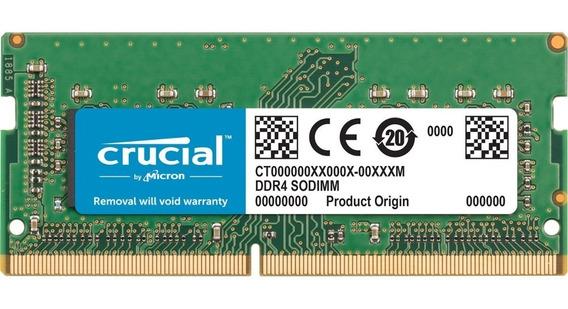 Memoria Ram Crucial Ddr4 16gb Sodimm 1.2v 2400mhz Notebook