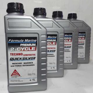 Caja X 10 - Aceite 2t Quicksilver Semi Sintetico P/ Lanchas