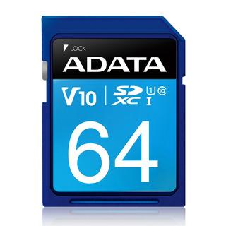 Adata Memoria Sd 64gb Uhs-i Clase 10 Camaras 50mb/s