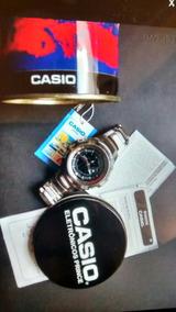 Relógio Original Casio 200metros Shock Steel Na Caixa Papeis
