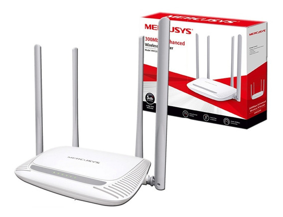 Router Inalambrico Mercusys Mw325r 300mbps 4 Antenas 1 Año G