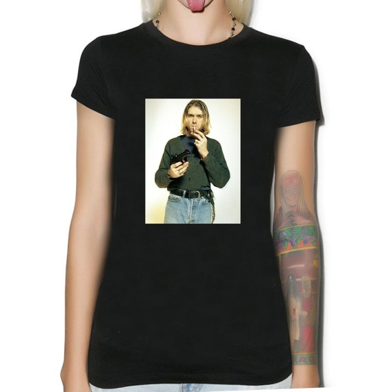 Remera De Mujer Nirvana Musica Punk Rock Kurt Cobain M23