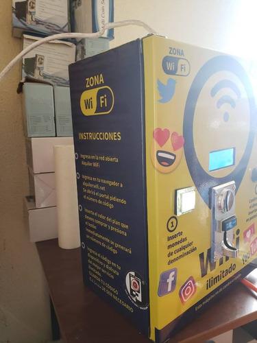 Imagen 1 de 6 de Maquina Expendedora De Wifi Por Monedas Somos Fabricantes