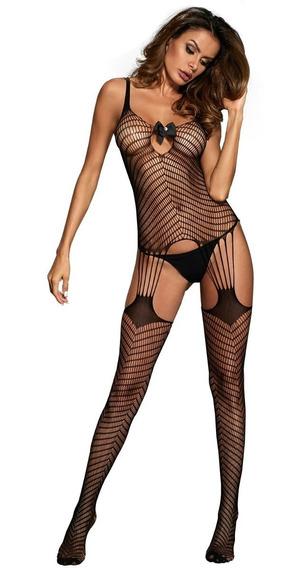 Body Enterizo Sexy Mujer Malla Tirantes E790077