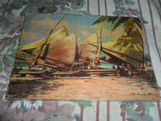 Tarjetas Postales Antiguas Descanso De Las Jangadas. Brasil