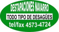 Destapaciones Navarro, Plomeria,cloacas: El Mejor Servicio