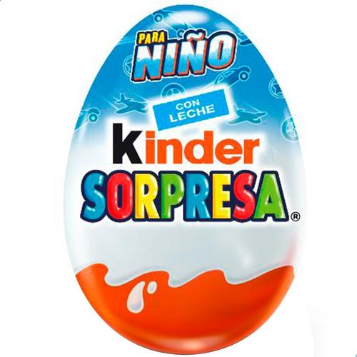 Huevo Kinder Sorpresa Para Niño Chocolate - Caja X12 Unid