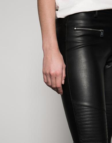 Pantalon Cuero Mujer Bershka Importado Mercado Libre