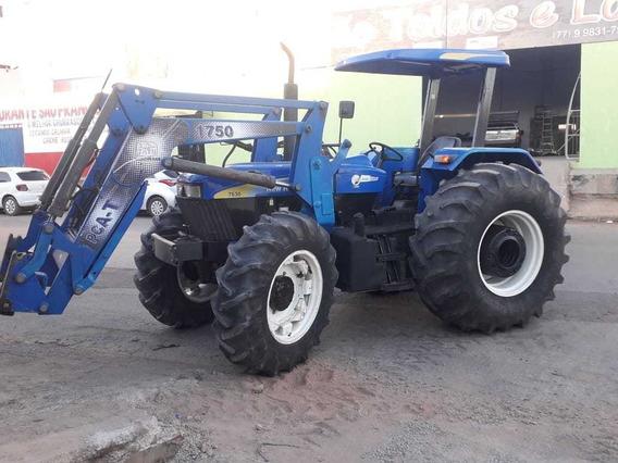 Trator Modelo 7630 4x4 Com Sistema Hidráulico Concha E Garfo