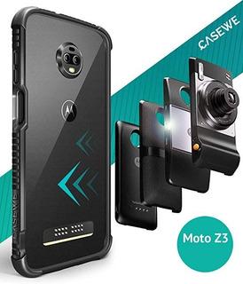 Case / Bumper / Capinha Motorola Moto Z3 Play, Preto Fosco