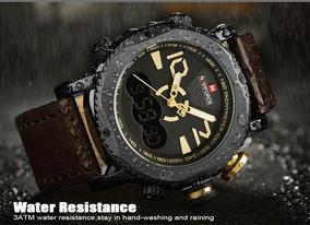 Relógio Naviforce Coffee E Yellow Coffee 9094 - Frete Gratis