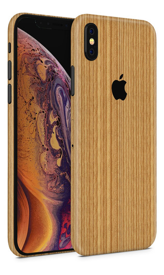 Skin Madera Clara Para Telefonos Apple iPhone