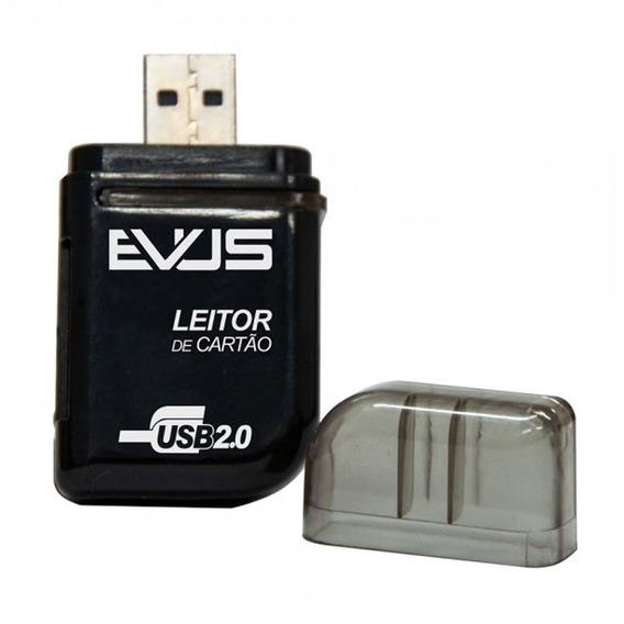 Leitor De Cartão Externo Evus Lc-01 Para Sd/mini Sd/ms/t-fl