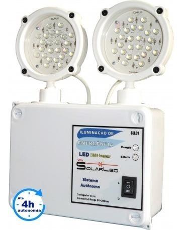 Sistema Autônomo De Iluminação 48 Leds 1200 Lumens