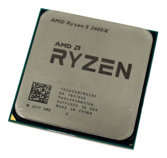 Processador AMD Ryzen 5 2600X 6 núcleos 64 GB