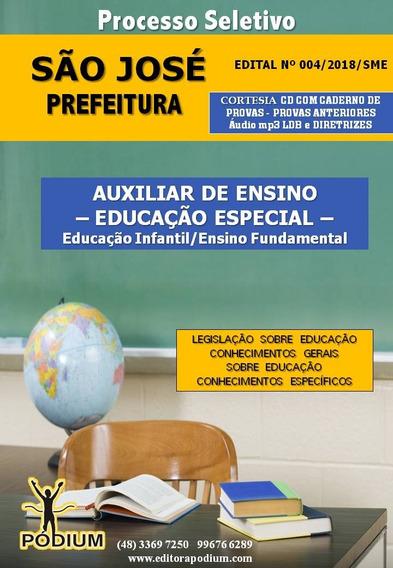 Apostila Auxiliar De Ensino Educação Especial São José-sc