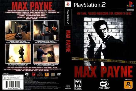 Max Payne Collection - Ps2 - Patch - 2 Dvd