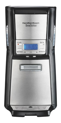 Imagen 1 de 2 de Cafetera Hamilton Beach BrewStation 48465 automática negra y plata de goteo 110V