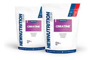 Kit 2 Creatina 1kg Monohidratada Newnutrition