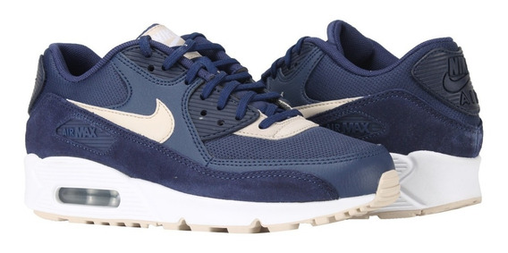 Tênis Nike Air Max 90 Binary Blue Oatmeal Feminino.