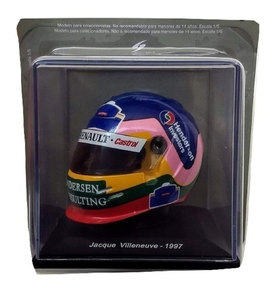 Colección Cascos Grandes Premios N° 46 - Jacques Villeneuve
