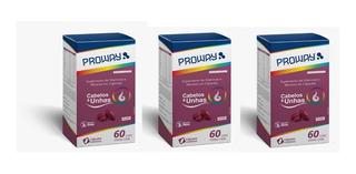 3 Cabelos E Unhas 60cap 500mg Vitaminas E Minerais - 180cap