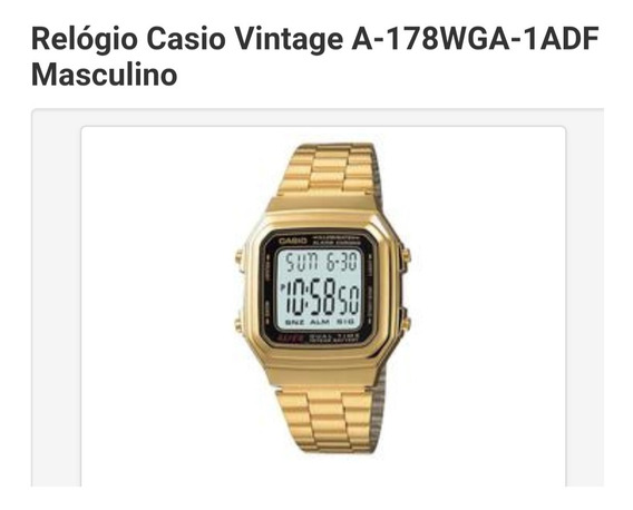 Relógio Casio Vintage A-178wga-1adf Masculino