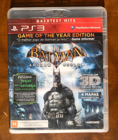 Batman Arkham Asylum - Ps4 - Mídia Física