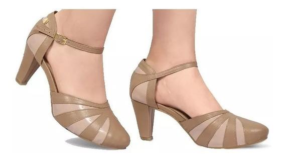 Zapatillas Dama Mujer Comodas Piel Color Maquillaje Tacon 7c