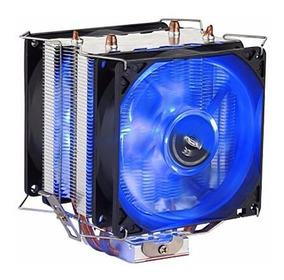 Cooler Duplo Dual Fan Cpu Pc Intel Amd 775 1150 1151 Am3+