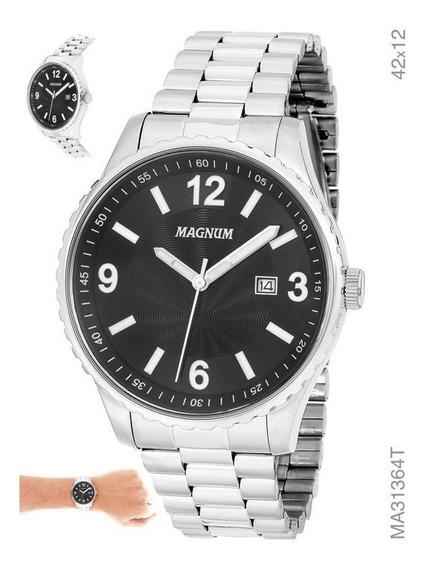 Relógio Magnum Masculino Em Aço Prata Ma31364t