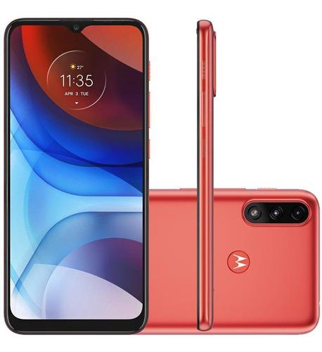 Celular Motorola Moto E7 Power Coral 32gb Cam 13mp + 2mp
