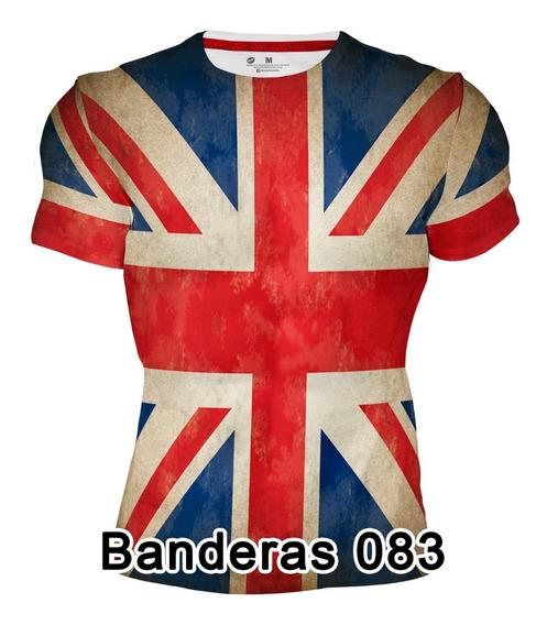 Playera Dry Fit Sublimada Full Print Bandera Gran Bretaña