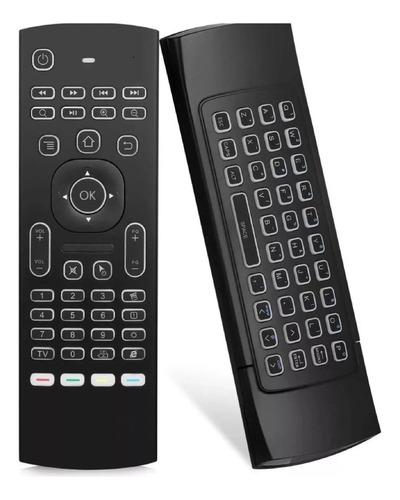 Controle Air Mouse Teclado Luminoso Andróid Tv Smart /pc Box
