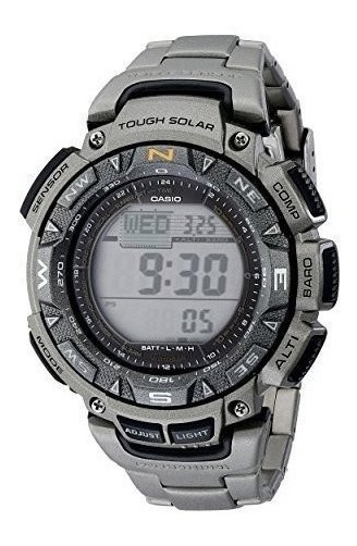 Reloj Casio Digital Tough Solar Pulsera D Titanio Pag240t-7c