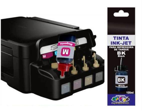 Tinta Epson Preta Compativel Cor Impressoras Tanque Ou Bulk