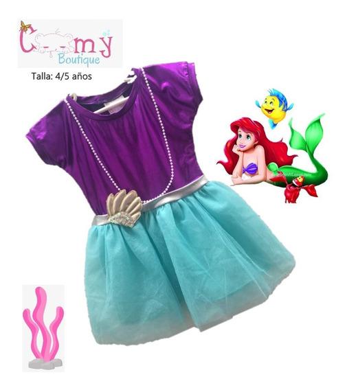 Vestido Sirenita Talla 4/5 Años