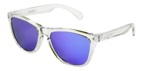 Oculos Oakley Frogskins Transparente Violet Iridium Top 12x