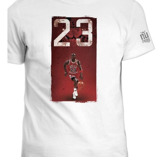 Camisetas Estampada Michael Jordan Basketball Hombre Ink