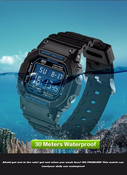 Relógio Masculino Sanda Ipermeavel Modelo G-shock